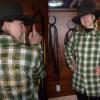 Мъжка карирана риза Lee